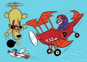 Dastardly and Muttley cartoon character
